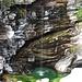 Wasserfall von der Bushaltestelle in  Ponte Brolla aus.