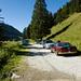Ausgangspunkt der Wanderung: Parkplatz am Wegrand bei Gros Mont