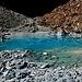 L'Occhio Turchese: così ho chiamato questo minuscolo laghetto senza nome, ben visibile tuttavia sull'immagine satellitare