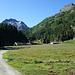 Kurz nach Maloja am Eingang des Val Forno