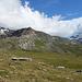 Der Gipfel ist immer noch zu - bei der Alp Munt. Bald sind wir unten im Tal in Segl/SilsMaria