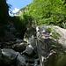 Aufstieg durch die Schlucht des Ri di Croazzö