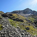 Rückblick auf den Abstiegsweg vom Col des Otanes zur Cabane F.-X. Bagnoud (Panossiere)
