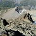 Rückblick vom Felsgrat zum Col de Lire Rose