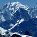 Im Westen dominiert der Mont Blanc