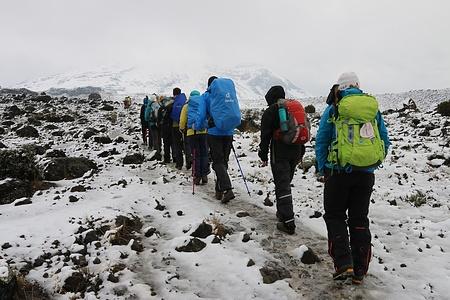 Weg zum Lava Tower. Der Anfang vom Schneedesaster