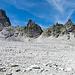 Die Lavtinahörner. Von hier aus gesehen eine Steinwüste.
