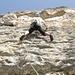 Dans une longueur en 6b de Sendero Luminoso, le rocher est splendide!