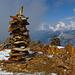 Der Gipfel des Bristen mit seinen roten Felsnadel-Steinen.