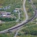 Abisko Turiststation. Strasse E10 nach Narvik, Erzbahn.<br />Abisko Turist. Bilvei E10 till Narvik, Järnvägsstation