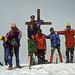 Foto di gruppo con fumatore (io non mi facevo vedere dai ragazzi).<br />Io sono quello sulla croce.