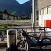 Start am Bahnhof Turtmann