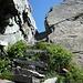 La scala di Ragozzale: la parte superiore è scavata nella roccia