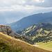 Ausblick von der Krete, wo der alte Tomliweg in den Bergweg zum Tomlishorn mündet