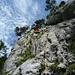 [U Alpin_Rise] in der ersten Seillänge des Balmflue Südgrates