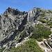 Rückblick zum Monte d'Oro - abweisend sieht er von dieser Seite aus ...