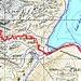 Vom GPS aufgezeichnete Route (Aufstieg und Abfahrt)