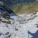 Zunächst ganz harmlos: Abstieg vom Locherligrat Richtung Vorstegstock