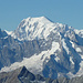 Grandes Jorasses, Mont Blanc und Mont Dolent davor, rechte Mitte