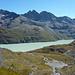 Lac des Dix, dahinter Aiguille Rouges d'Arolla, soll schön sein zum Klettern