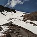 unterhalb der Schwarzhornfurgga liegt noch ziemlich viel Schnee