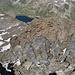 Tiefblick zum Schottensee beim Flüelapass