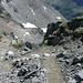 im Abstieg kurz vor der Schwarzhornfurgga