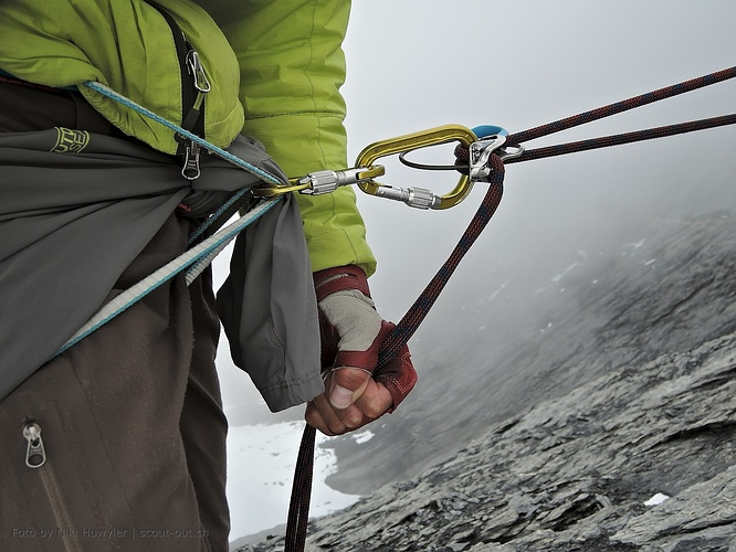 Klettergurt Mit Bandschlingen : Bandschlinge als klettergurt die jacke unterlage hikr