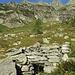 Die bescheidenen Überreste der Alp de Paglia