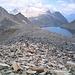 Foto d'archivio del 04/09/2004. Piz Terri. Dalla via di discesa panorama verso il lago a Nord del Pizzo di Güida