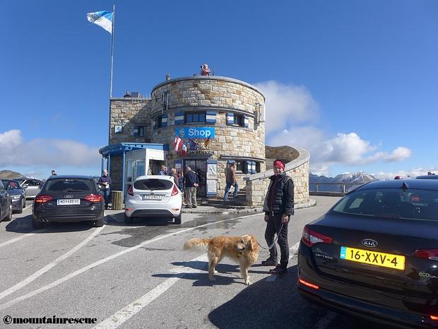 Einreihen in die Touristenmassen auf der Edelweißspitze ☺