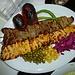 leckeres Lamm-Kebab zum Mittagessen