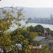 Am späten Vormittag ist es immer noch diesig im Rheintal bei Boppard. Ein Wechsel von Sonne und Dunst.