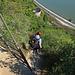 Zwischen den Klettersteigpassagen sind immer wieder ein paar Meter zu gehen
