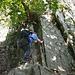 Die schönste Passage kommt am Ende des Klettersteiges und führt über eine längere Strecke durchgehend nach oben.