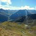Blick in die Silvretta. Die aufkommende Quellwolkenbildung sorgt dafür, dass man von den 3.000ern nicht viel sieht.