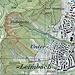 Karte: Der Kleeweidpfad führt in einer schönen Linie vom Waldrand oberhalb von Unterleimbach via die Kleeweidegg (Name nicht auf der Karte) und die Alpinahütte (hier von Hand eingezeichnet) an den oberen Rand der Falletsche und zur Gratstrasse (ausgezogene Linie). Die Alpinahütte kann auch - ziemlich pfadlos - auf einer schmalen, etwas weiter südlich gelegenen Rippe oder via die anschliessende Wiese erreicht werden (gepunktete Linien). - Von der Alpinahütte führen neben dem hier beschriebenen, im Gelände gut sichtbaren Trampelpfad (ausgezogene Linie) weitere Pfadspuren nach oben: eine südliche Spur, die durch viel Dickicht und Jungholz führt (gepunktete Linie), sowie ein zunächst nordwärts führender Abstecher via die Sandsteinfelsen am Rand des Erosionstrichters (gepunktete Linie, heikel, ausgesetzt, T4+).