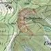 Karte: Neben der ausgezogenen Linie, die die Traverse durch die Falletsche zeigt (inklusive den heiklen T4+-Aufstieg an deren südlichem Ende), sind gepunktet die möglichen Varianten eingezeichnet: insbesondere der direkte Aufstieg via Leiter kurz nördlich der Glecksteinhütte (T4) sowie der Abstecher zur Alpinahütte mit dem dortigen, deutlich einfacheren Aufstieg über die Sandsteinbank (T3).