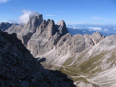 Il Catinaccio e le tre Torri del Vajolet.