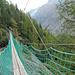 Die erste Hängebrücke auf dem Erlebnisweg.