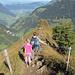 Auf dem Weg in Richtung namensloser Gipfel in der Nähe der Walengräben.