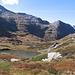 I due laghi del Pass di Passit dall'alto.