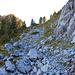 Beim Abzweiger Girenhorn/Seehorn, Blick in Richtung Girenhorn