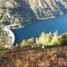 Dalla Forcadona, visuale a picco sulla diga del Luzzone