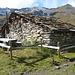 die Alphütte auf der Alpage Torrent