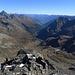Blick nach Osten mit Piz Linard, das Unterengadin und den Ötztaler Alpen
