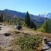 Dem Höhenweg nach Gspon entlang mit einigen Pausen