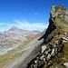 Aus der Nähe siehts dann gemütlicheraus: Westgrat zum Chli Chilchberg