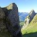 Tristen Nordflanke: hier windet sich geschickt eine Wegspur zum Gipfelplateau