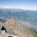 Blick auf die Stadt Aosta.